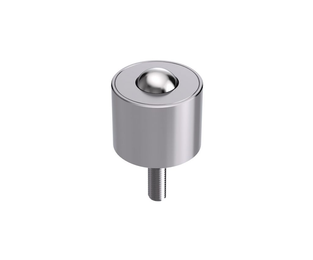 Heavy-duty ball caster with threaded pin