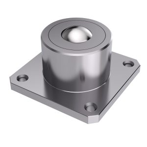 Heavy-duty ball caster with base flange