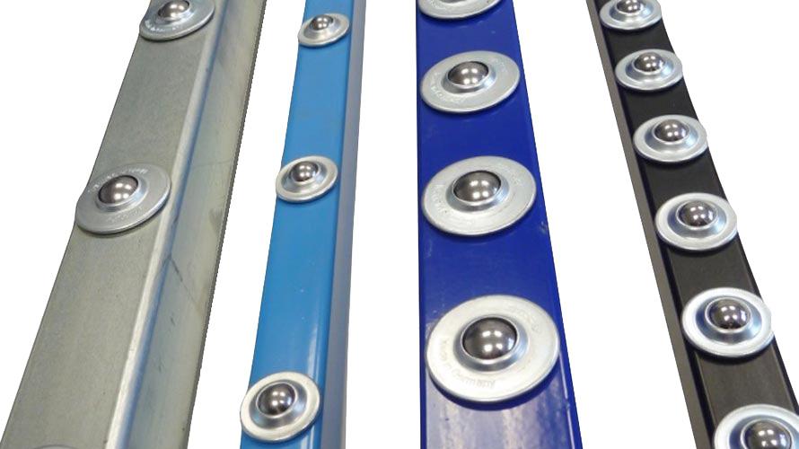 Ball caster - ball units rails