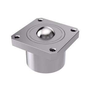 Heavy-duty ball caster with head flange